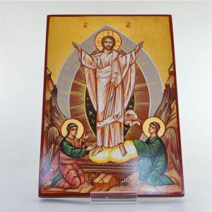 Icona dipinta a mano Resurrezione