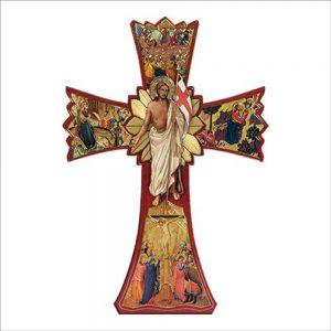 croce stampata con immagini da appendere