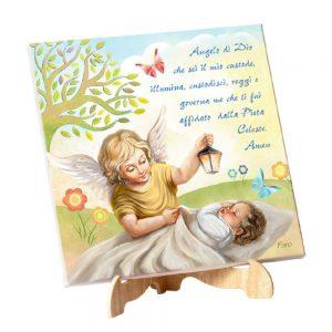 quadro angelo custode e preghiera