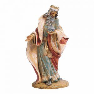 statua re magio con argento per presepe